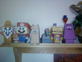 My papercraft shelf by SCroman