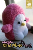 Paige the Pink Penguin by cleody
