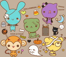 halloween stickerthings by pronouncedyou