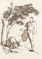 Newton meets Superman by caanantheartboy