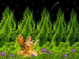 Garden of the Fractal Fairy by Thelma1