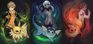 Pokemon Go Team Leaders by thirteenthangel