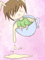 Onew in a cup by hitomay26