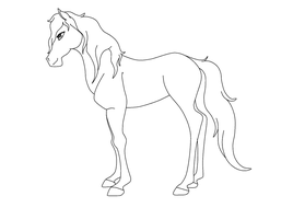 Mare Lineart. by LyricTheMare
