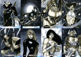 Women of Legend Sketch Cards 02 by RichardCox