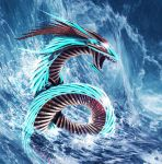 Sea Metal Dragon +background+ by ChickenChasser