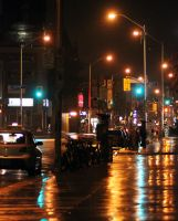 Bloor in the Rain by vmulligan