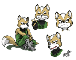 Fox expressions sketch by icha-icha