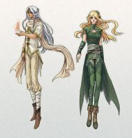 Aeternia- Elves concepts by Erulisse2