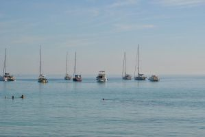 Boats at Corsica by Swaal