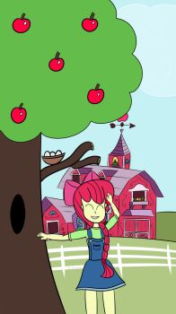 EQG - Apple Bloom at the Farm by SyncedsArt