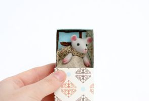 Mouse in a matchbox by freedragonfly