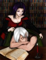 Reading Lesson: Fenris x Hawke by Arquen