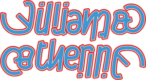 William + Catherine ambigram by dtw42