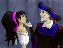 Frollo and Esmerelda by MoniaArt101