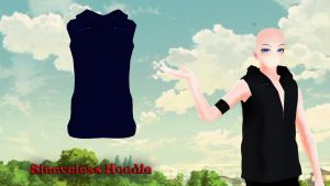 MMD Sleeveless Hoodie DL by Allena-Frost-Walker