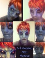 Evil Mutated Navi Makeup by Anesthetic-X