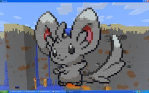 Minccino On Minecraft by Miccopicco