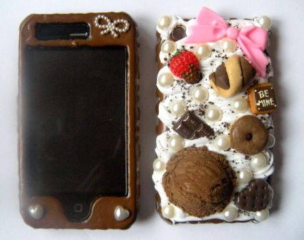 Sweet Chocoholic iPhone Case by AmbiguousAngel