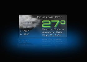 Ordinary Glass Weather for XWidget by boyzonet