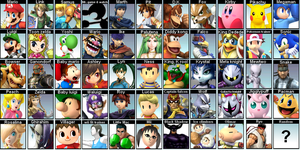 My Super Smash Brothers For wii u and 3ds Roster by Kyon000