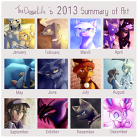 2013 Summary of Art by TheDogzLife