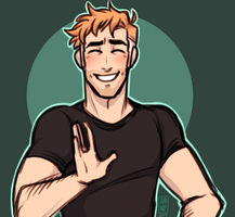 Cool Dad says Hi by ManiacWithAPen