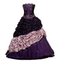 purple dress _ png by miralkhan