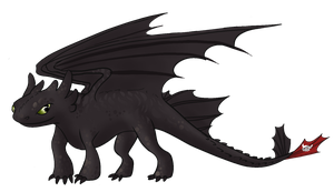 Toothless by SpaceSharkz