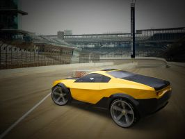 Camaro SS concept rear view 3D by yamell