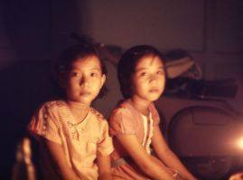 Kalimantan Girls by Lamplight by Shibumi-Paul