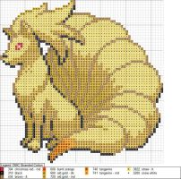 Ninetails XStitch Pattern by niakane
