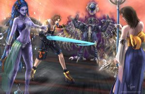 Final Fantasy X - Yu Yevon by Adyon