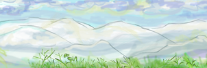 Muro Mountains by glasscoloredsnow