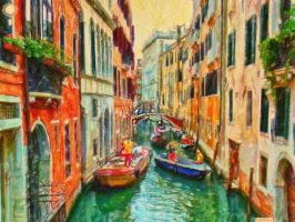 That There Canal in Venice Italy by ShawnaMac