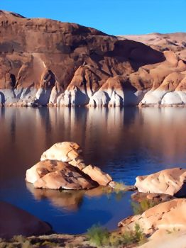 Calm Channel _ Lake Mead by nofile404
