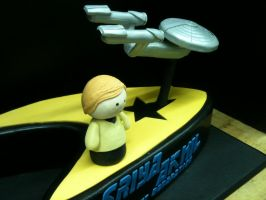 Star Trek Cake by EEPoageCakes