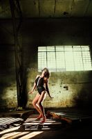 Retro Bikini in Warehouse by jaytablante