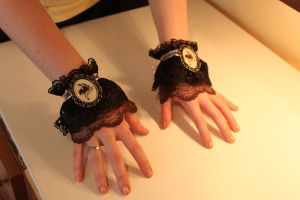 Steampunk Cuffs by LittleMissTreat