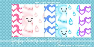 Ghosts, Hearts and Drops Patterns by Coby17