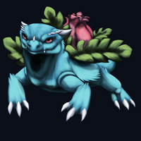 Ivysaur by Scent-of-Shadows