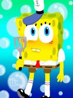 Lineless SpongeBob by Toon-O-Clock