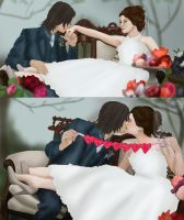 RumBelle Wedding +COMMISSION+ by BLOOD-and-LUST-87