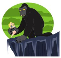 King Kong loves Ann by belledee