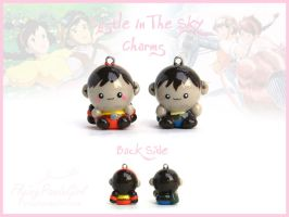 Castle In The Sky Charms by FlyingPandaGirl
