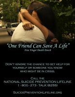 One Friend Can Save A Life (2) by Konack1