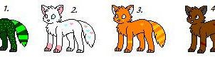 Small Wolf Adoptable Pack by Newgrounds-People
