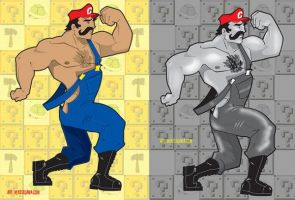 Mario Beefcake by mikeysammiches