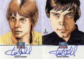 Star Wars Galaxy 7 Sketchagraph Cards:Mark Hamill by AllisonSohn