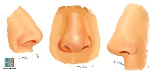 How to paint a realistic nose by anime-master-96